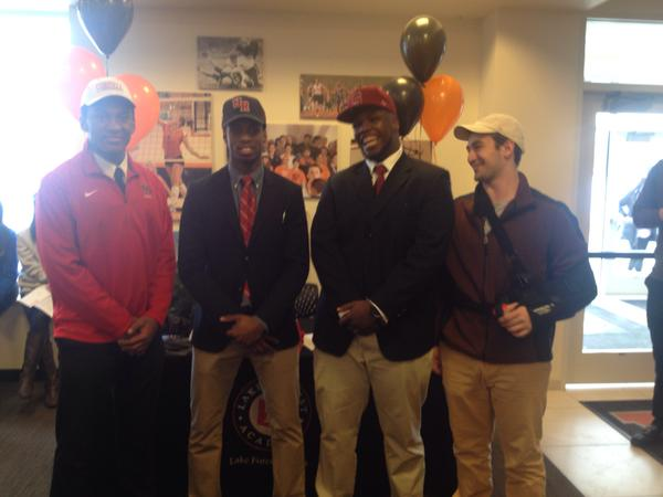 Lake Forest NCAA Signing Day - Annan Brissett and Chaka