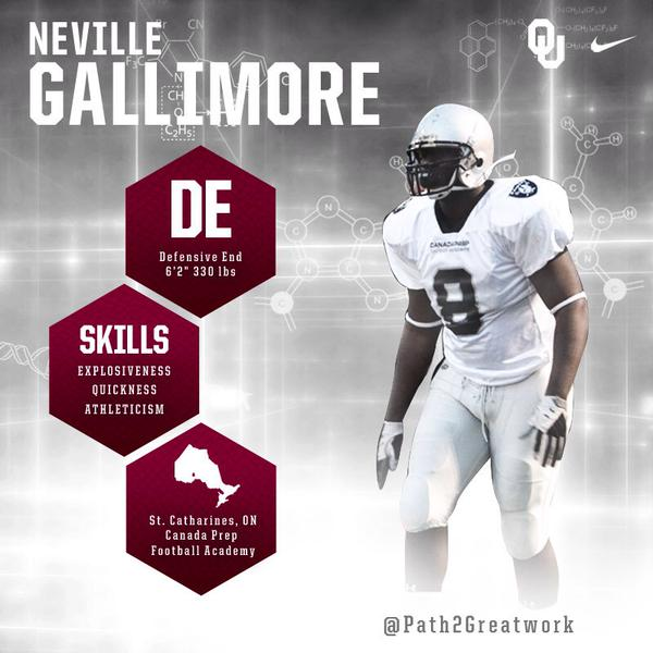 Neville Gallimore NCAA Signing Day