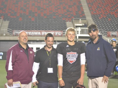 2015 ONTARIO PROSPECT CHALLENGE (Ottawa): Spinella surprised with Varsity Offensive MVP honour