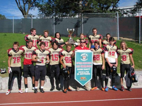 Guelph Jr Gryphons 2015 OFC JV Champs 1
