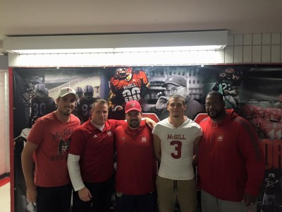 CEGEP recruit ecstatic to work with #CFC100 pivot, OC Groulx at McGill (VIDEO)