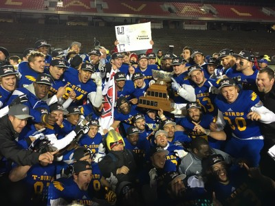 CIS: T-Birds, '14 #CFC100 #1 O'Connor complete Cinderella season; win first Vanier Cup since 1997