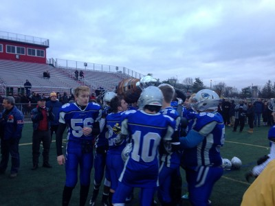 "The Knights yelled ""For Heney"" as the received the trophy"