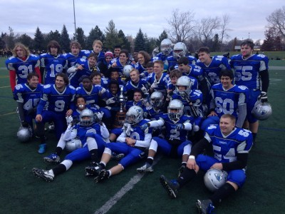 The St. Peter's Knights your 2015 NCSSAA AAA Football Champs