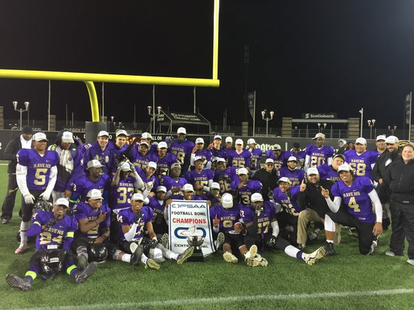 St. Roch 2015 OFSAA Bowl Champions 2