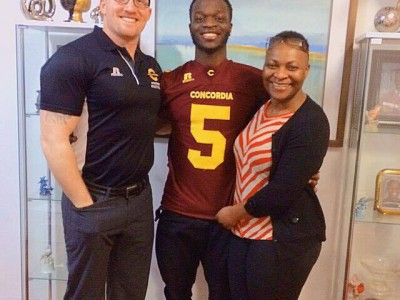 """Concordia """"shows a lot of love"""" for CEGEP recruit (VIDEO)"""