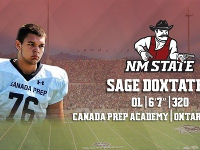 NCAA's New Mexico Aggies announce signing of #CFC100 OL Doxtater (VIDEO)