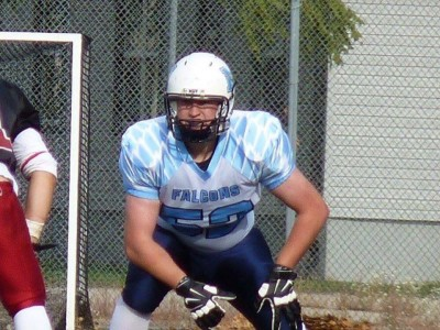 OL' McFalls uses size to win in the trenches