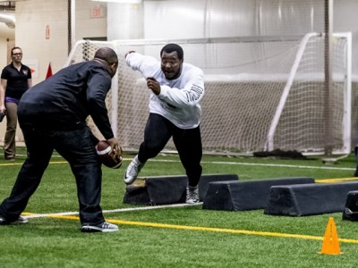 Bison Onyemata excels at Pro Day workout in front of 17 NFL teams