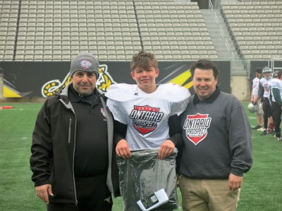 Scott Miron (#40) with Raad Raad (left) and Rich Lechance (right).