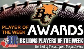 BC Lions Players of the Week