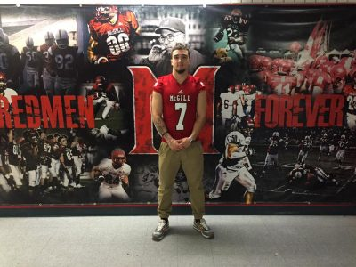 Xavier Angers-Gauthier after commiting to the Redmen. Courtesy of Ron Hilaire.