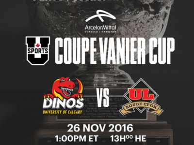 U Sports: A head-to-head look at the 52nd ArcelorMittal Dofasco Vanier Cup