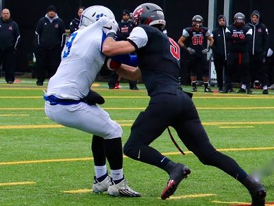 #CFC100 player performance (Québec) RECAP (1/2): Lemieux-Cardinal registers 2 sacks vs defending champs