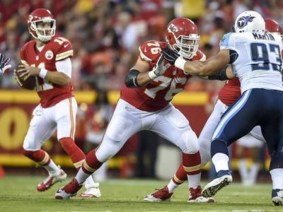 Kansas City Chiefs offensive lineman Laurent Duvernay-Tardif (76). David Eulitt