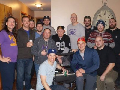 2016 Huronia Stallions Annual Coach's Christmas Party. Pictured are current and former coaches who were also former players in the 1990s, 2000s, and 2010s.