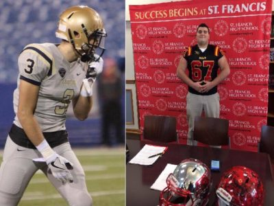 CFC100 Canisius Crusader WR, St. Francis OL moving back north, joins Gryphons