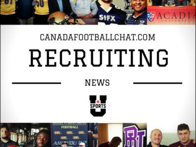 U Sports recruiting wrap (1): 77 CFC100s and counting, major coaching shifts, Bishop's to the AUS