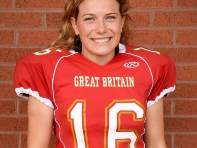 Phoebe Schecter donning the Great Britain jersey (Image obtained from Twitter: @buffalobills)