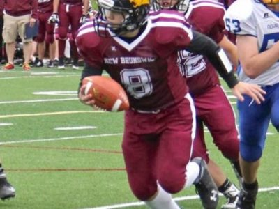 Rawlines #8, team NB QB U17, scrambling