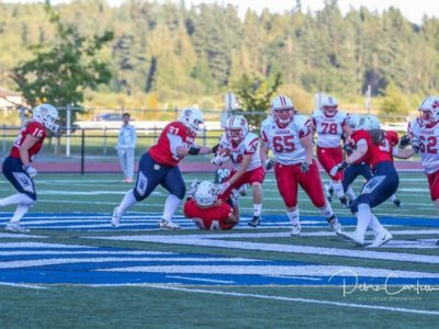 Competing against Team Great Britain in Canada's second game of the IFAF Worlds (Credit: Debra Carlson, Diz Ruptive Photography)