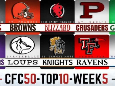 #CFC50 2017 high school RANKINGS (5): Weather continues to rage in QC, AB upsets blow everything up