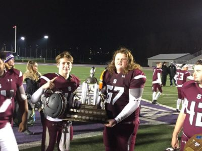 CFC100 Ethan Martin (left) and Matt Adams (right) celebrate a championship victory. Courtesy of Matt Adams.