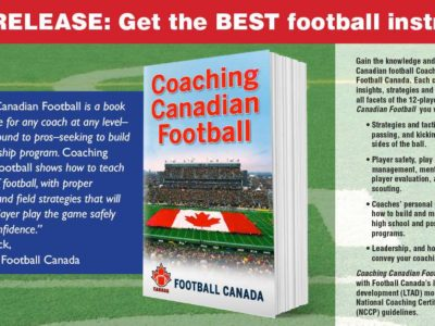 New release: Coaching Canadian Football, written by coaches for coaches