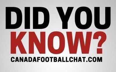 DYK: CFC100 puts 'winnings' to good use, opportunity for the Canadian QB? plus…..