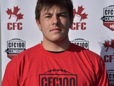 """CFC100 Logan Weidner; """"…we all take pride in the team as a school"""""""