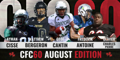 CFC60 August 2018 Cegep/JUCO player RANKINGS
