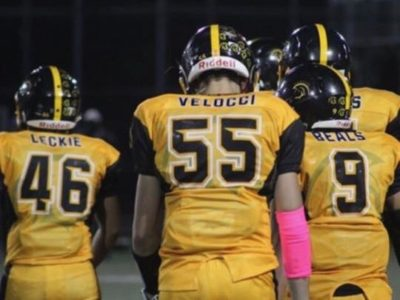 "DE Daniel Velocci; ""I look forward to tearing it up on the field this year"""