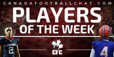 CFC50 High School Players of the Week (9): Berry, CFC100 Gutek, Auld, and Clarke honoured