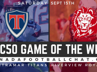 CFC50 Game of the Week (NB): Riverview faces Tantramar in early key matchup