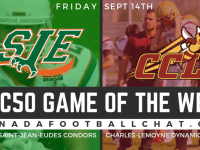 CFC50 GOTW (QC): No. 9 Saint-Jean-Eudes ready for test against No. 50 Charles-Lemoyne