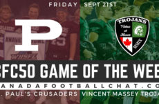 CFC50 Game of the Week (MB): No. 6 St. Paul's Crusaders face a tough test in No. 18 Vincent Massey Trojans