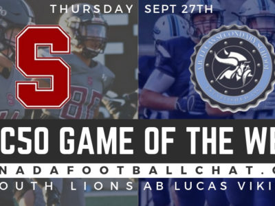CFC50 GOTW (ON): No. 7 South ready for a Civil War against No. 36 A.B. Lucas