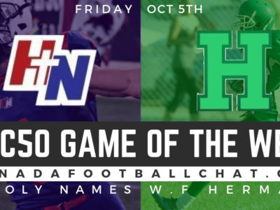 CFC50 GOTW (ON): No. 5 Holy Names ready to defend the city against No. 14 Herman