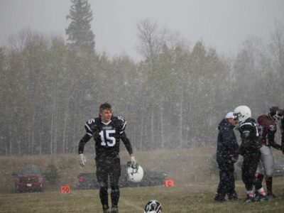 Noah Dickens, #15 for the Creighton Kodiaks after a win over Beauval