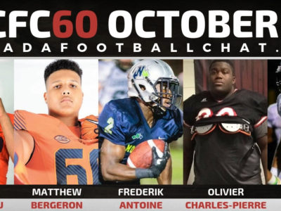 CFC60 October 2018 Cegep/JUCO player RANKINGS