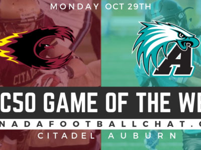 CFC50 Game of the week (NS): No. 37 Citadel faces NR Auburn in east coast rumble