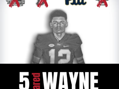 Pitt makes it official; Sign CFC100 Jared Wayne