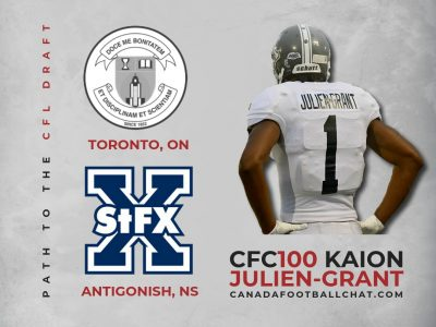 Path to the Draft: St. FX all-time great CFC100 Julien-Grant