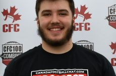 CFC100 OL Creeden anchor on the line for Team Dunigan