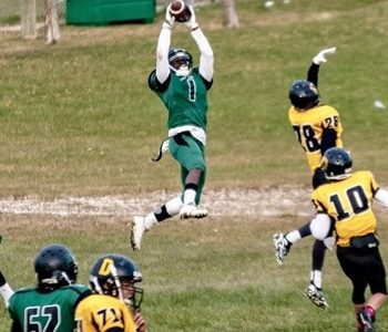 CFC100 WR Jibu Namwira uses speed to make quick transition to football