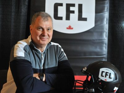CFL commissioner Randy Ambrosie on Jan. 10, 2018. Photo by Scott Rowed, Canadian Football League.