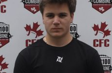 CFC100 Combine leaves impression on OLB Laviolette