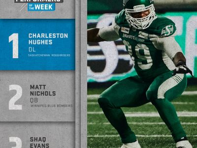 SHAW CFL top performers (5): Hughes, Nichols, Evans named