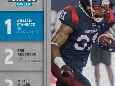 SHAW CFL top performers (4): Stanback, Roberson, Miller named