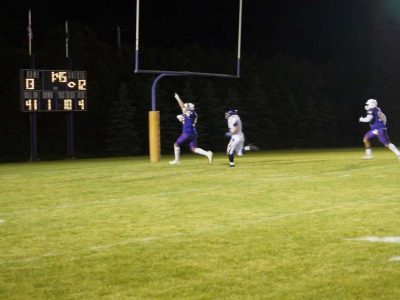 Defensive Linemen Aiden Alfieri Rumbles to the Endzone in Stallions Varsity Action (Photo: Jason Romisher)